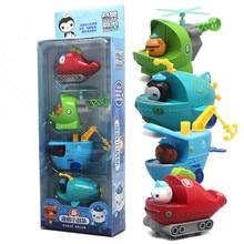 4 unidades/juego de figuras de octonautas, coche, capitán, polo, Kwazi, regalo de navidad para niños