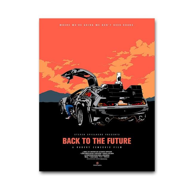 Плакат Гобелен Назад в будущее Материал Шелк вариант 2