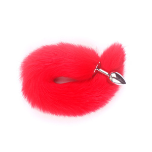 Image 4 - Feather Fox Tail Metal Anal Plug Erotic Accessories Anus Toy Butt Plug Sex Toy For Woman And Men Sexy Butt Plug Adult Accessorie