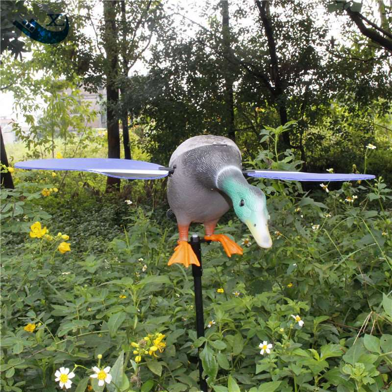 ФОТО Wholesale 6V Remote Control Pe Mallard Decoy Hunting Products With Magnet Spinning Wings