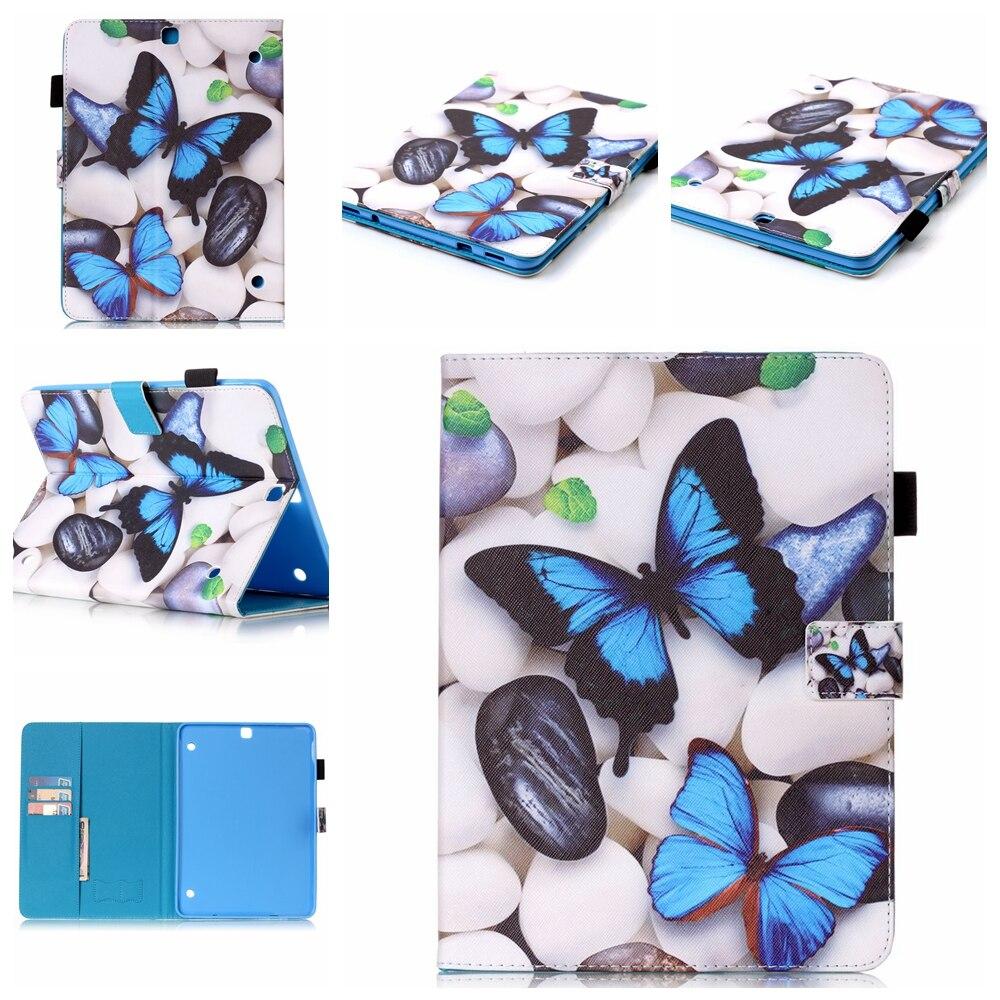 ∞Mariposa azul 3D patrón Funda de cuero para Samsung Galaxy T230 ...