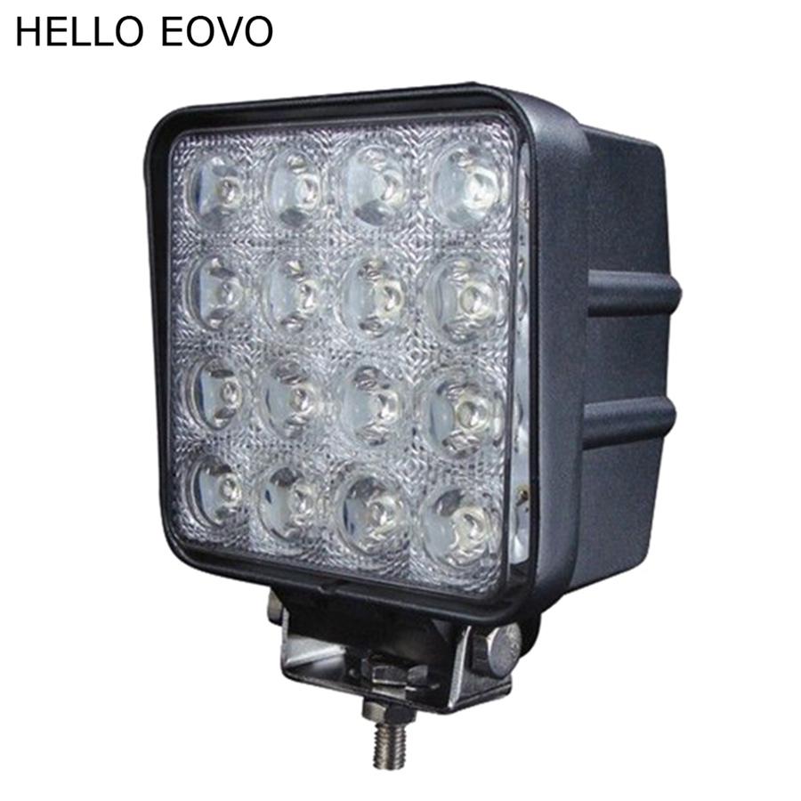 Prix pour BONJOUR EOVO 4 Pouce 48 W LED Travail Lumière pour Indicateurs Moto conduite Offroad Bateau De Voiture Tracteur Camion 4x4 SUV ATV D'inondation 12 V