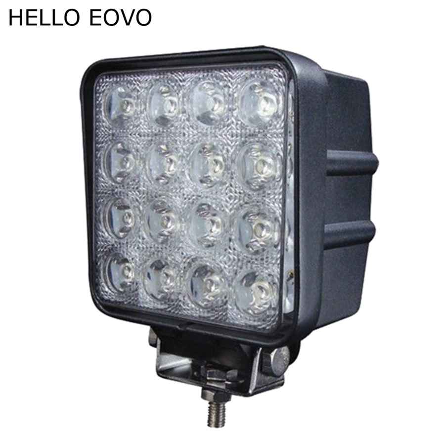 HELLO EOVO 4 Inch 48W LED Work Light for Indicators Motorcycle Driving Offroad Boat Car Tractor Truck 4x4 SUV ATV Flood 12V 1pc 18w led work light for motorcycle driving boat car tractor truck suv 6 inch flood lights