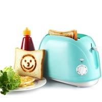 DMWD 750W Home Automatic Toaster 2 Slice Bread Baking Machine Breakfast Maker Sandwich Bread Slice Toaster Blue 220V