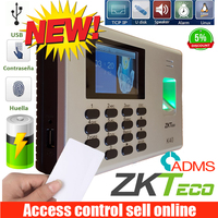ZK K40 TCP/IP USB Biometric Fingerprint Access Control And Time Attendance With Built In Back Up Battery Fingerprint Time Clock