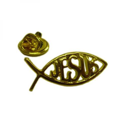 High Quality Gold Plated Lapel Pin Badge With Jesus New