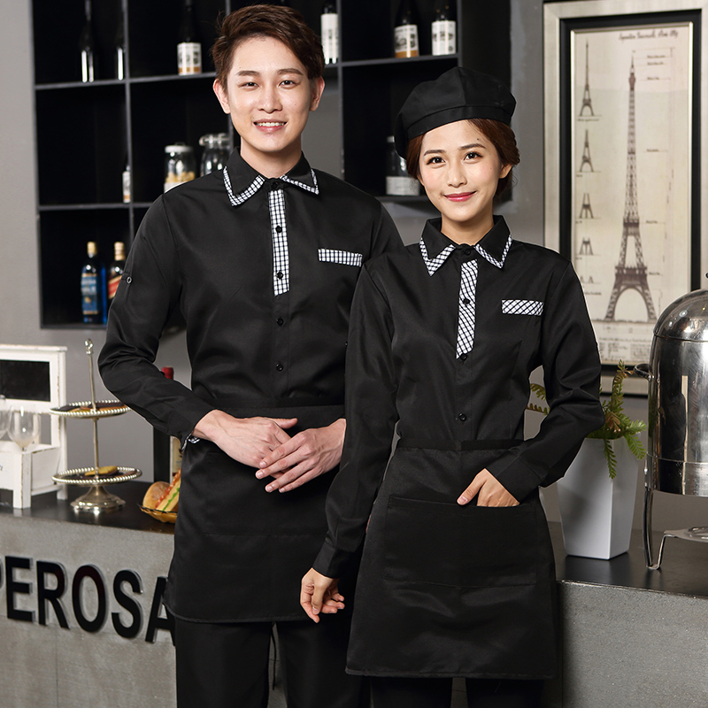 The Hotel Waiter Service Fast-food Catering Shop In Autumn And Winter And Hot Pot Hotel Restaurant Long Coffee Shop J343