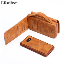 LRuiize Free Shipping Multifunction Leather Wallet Protective Case Handy Case BookCover Bag Bumper For Samsung Galaxy S6 S5 S4