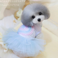 Sweet Lollipop Tutu Pet Clothing Cat Yorke Natsu Teddy Puppy Dog Clothes Summer Skirt