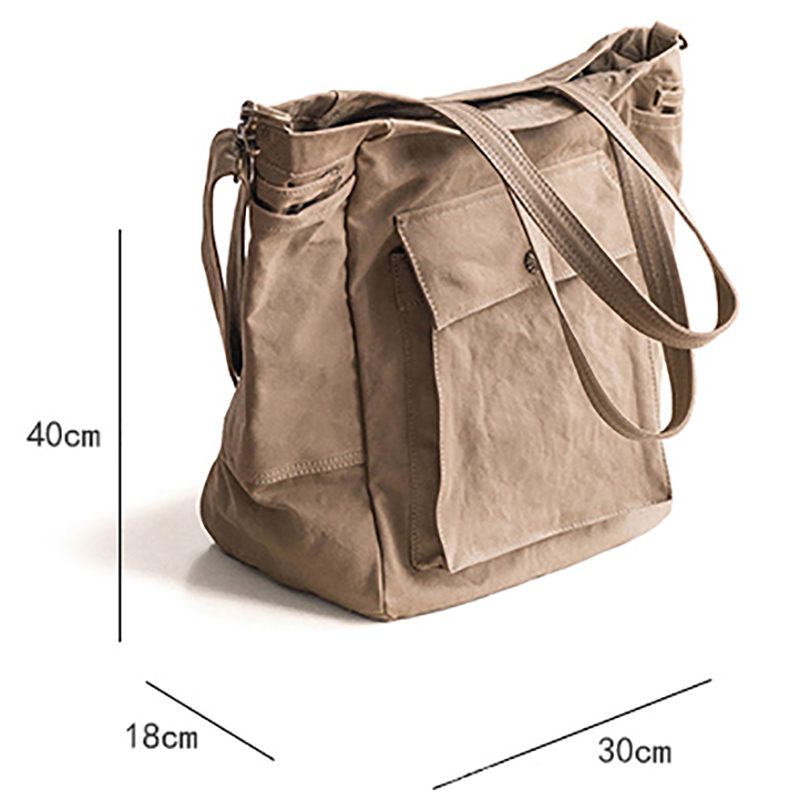 AETOO Japanese literary satchel canvas man retro shoulder crossbody bag literary handbag