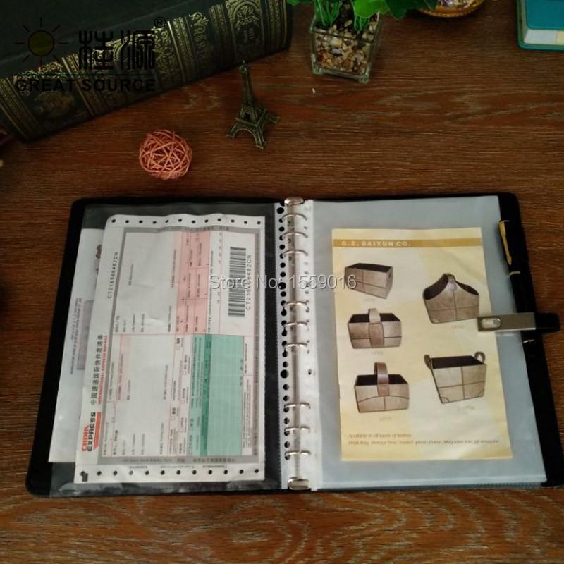 Clear file bag folder