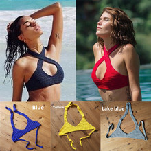 7 color Beach Knitted Bikini Top Bathing Suits Crochet Top – Hollow Out Swimwear