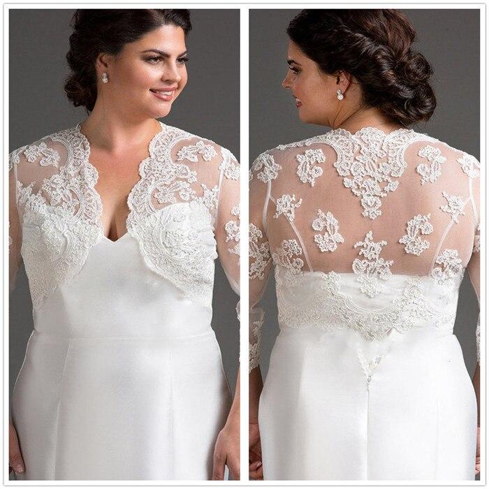 US $45.0 |34 Long Sleeve Wedding Bolero Jacket Lace Shawl Bridal Jacket Wedding Wrap Lady Shrug White Ivory Plus Size Bolero Jacket in Wedding