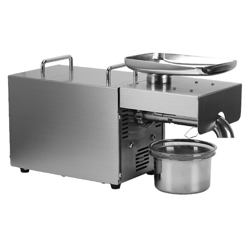 VOSOCO Oil press automatic press machine Peanut Soybean Sesame  Almond walnut sunflower seeds oil Stainless steel Oil press 500W
