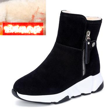New Fashion Women Boots Snow Boots Sneakers Plush High Top Velvet Cotton Shoes Warm Lace-up Non-slip boots 44