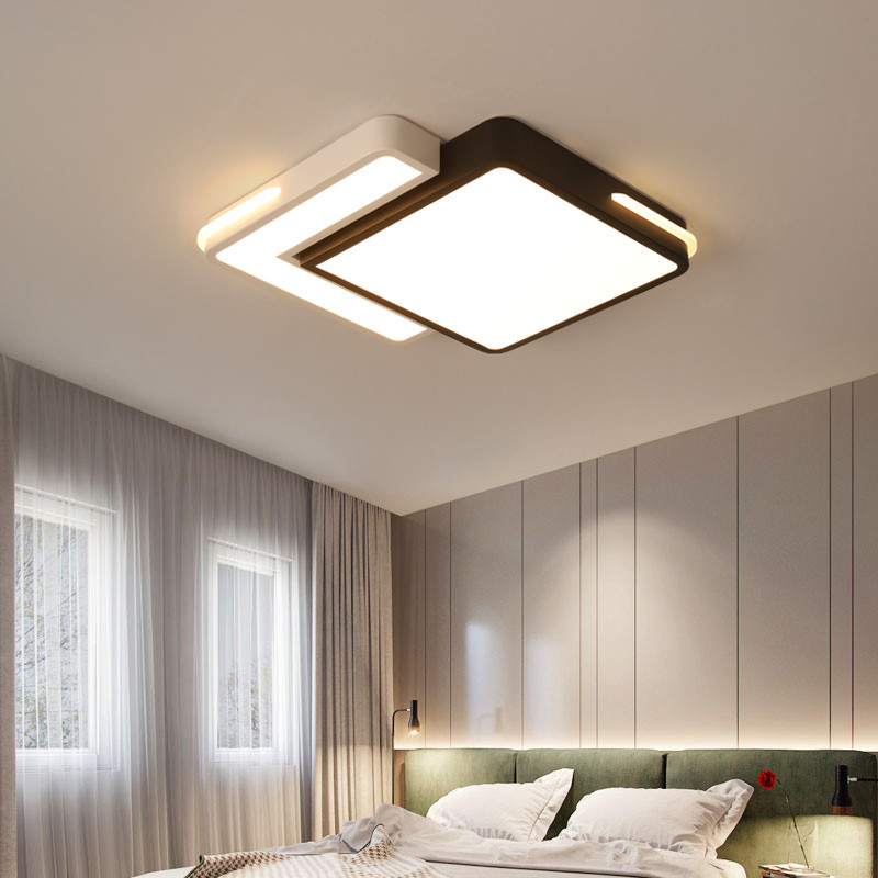 Us 102 92 25 Off Creative Geometry Modern Led Home Bright Lighting S Bedroom Ceiling Lamp Room Light 110v 220v Fixtures With Remote Control In