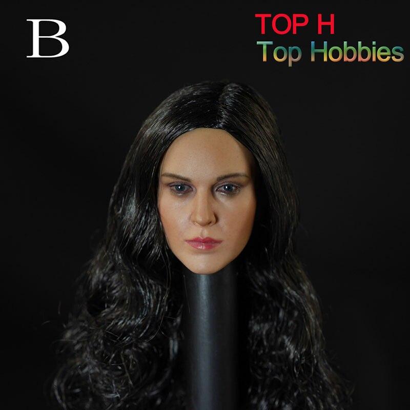 DS Игрушечные лошадки 1/6 девушка HeadPlay глава лепить модель BK W вьющиеся волосы Красивая женская голова Вырезка D-004 для 12 фигурку Средства уход...