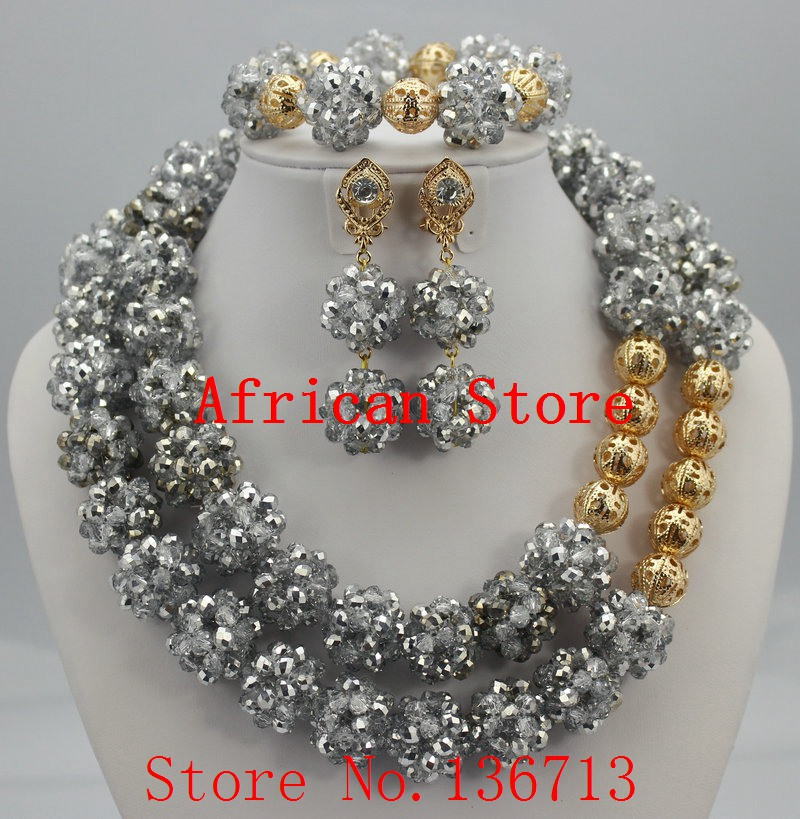 Marvelous African Beads Jewelry Set Splendid Nigerian Beads Set New Handmade Wholesale Free Shipping R552Marvelous African Beads Jewelry Set Splendid Nigerian Beads Set New Handmade Wholesale Free Shipping R552