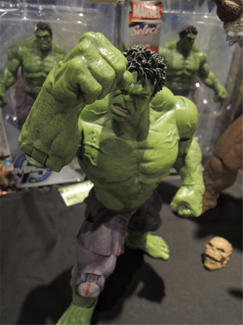 цены New Marvel Super Hero Avengers Age of Ultron Hulk Anime Figuarts PVC DST Hulk Action Figure Collectible Model Toys Doll 33cm