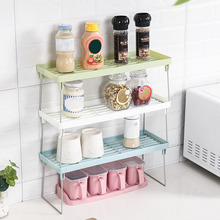 Saving Space & Keep Neat Durable and Stable Standing Rack Kitchen Bathroom Countertop Storage Organizer Shelf Holder Rack L506 hot sale stable car wheel tire wall mount tire holder rims tire storage tree shelf holder space saving rack bracket garage tool