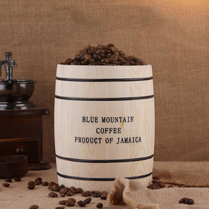 Image 4 - Coffee Beans 0ak Barrel Storage  Airtight Wooden Container For Coffee Beans or Grounds  Kitchen Box