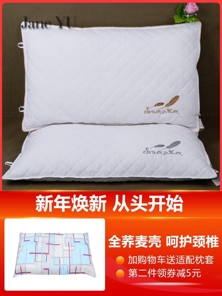 JaneYU oreiller de remplissage de sarrasin pour adulte noyau d'oreiller en coquille de sarrasin étudiant unique oreiller Cervical protecteur du cou
