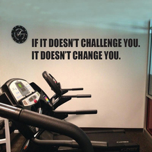 Gym Design Fitness Club Wall Sticker Quotes - CHANGLLENGE AND CHANGE YOU  Vinyl Wall Decals Motivation Wall Decor Murals