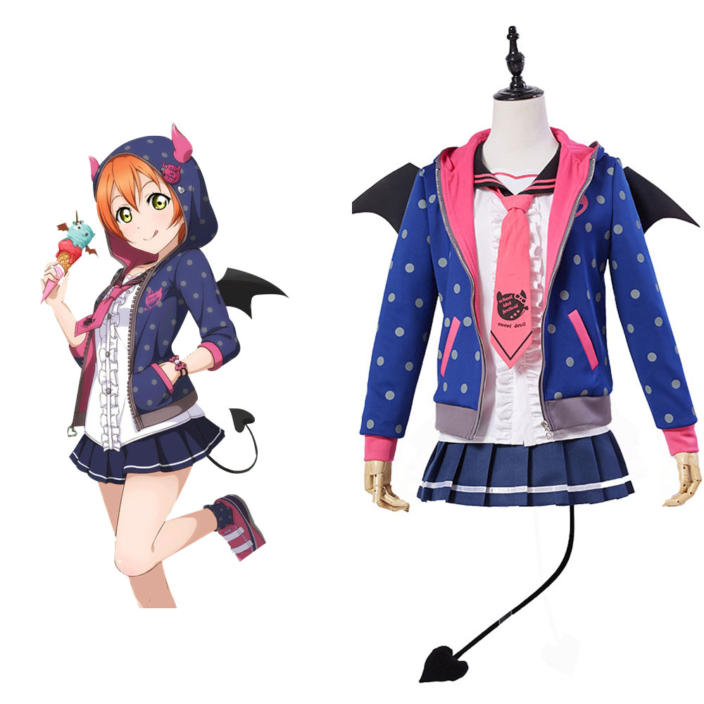 Love Live! Rin Hoshizora Little Devil demo Cosplay Costume Full Set Uniform for party Halloween