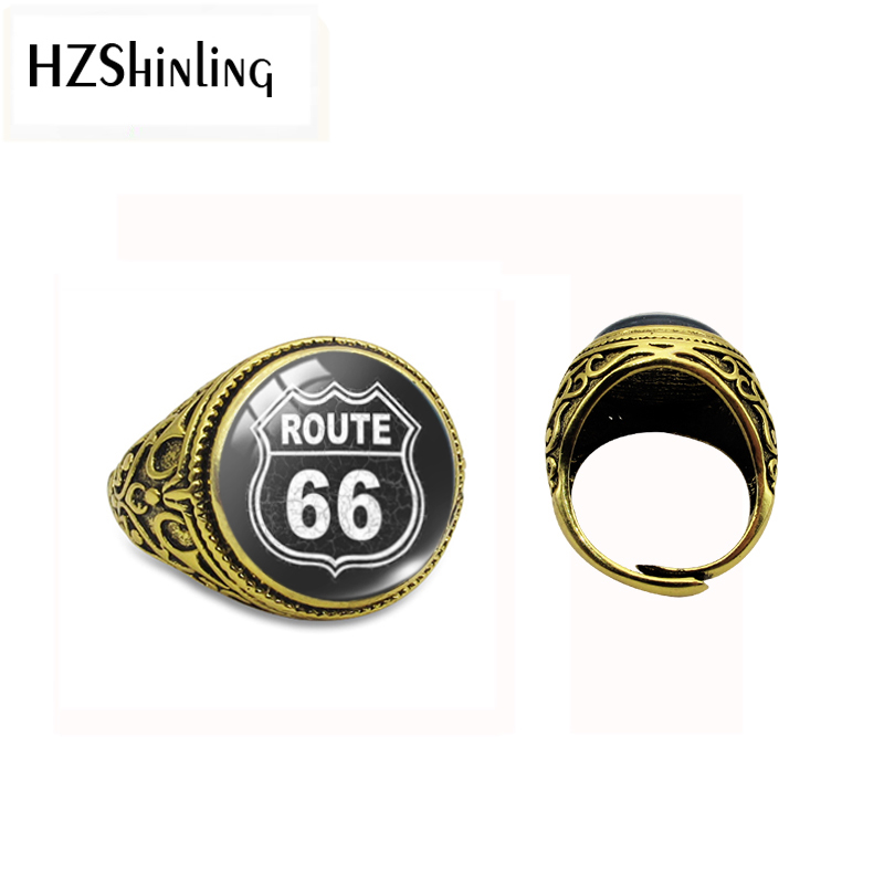 Antique-Ring Route Jewelry Pendants 66-Pattern Friends Glass for Men USA Best Dome New-Arrival
