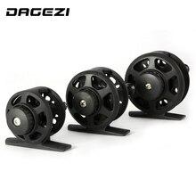 Dagezi ultra-light 3 Размер Ice Рыболовная катушка Черный Пластик Рыбалка колеса 1bb соотношение 1:1 Рыболовные катушки Рыбалка снасти