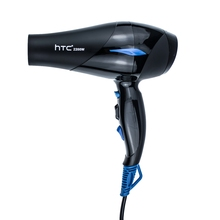 Htc 2200W Professional Strong Power Hair Dryer Low Hairdryer Hair Dryer Fan For Hairdressing Barber Salon Tools Blow Dryer Eu 2200w power hair dryer professional salon blow dryer 2200w hairdryer styling tools salon household use hairdresser blower hair