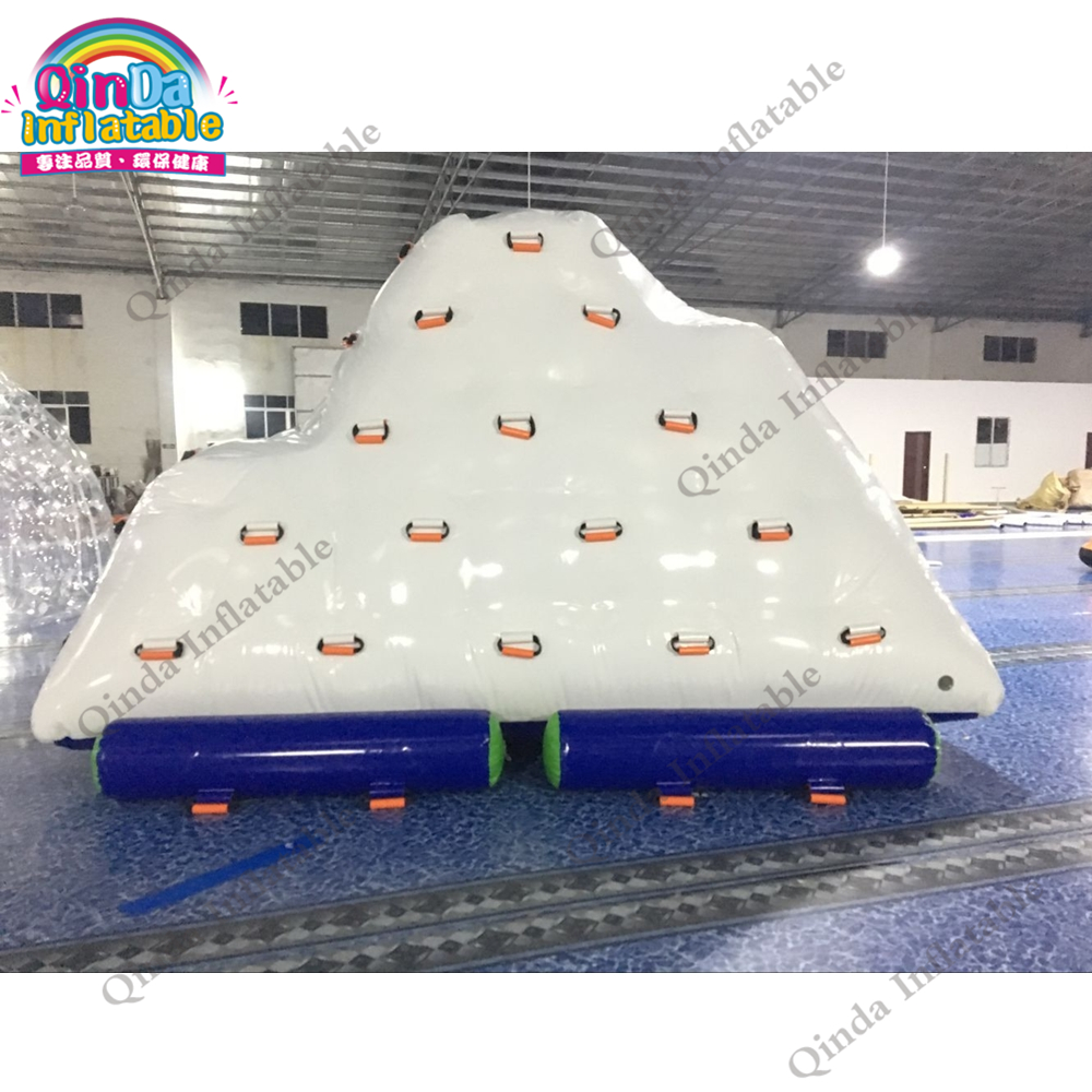 2018 Hot Selling Iceberg Climbing Inflatable Water Games, Adults Inflatable Floating Iceberg environmentally friendly pvc inflatable shell water floating row of a variety of swimming pearl shell swimming ring