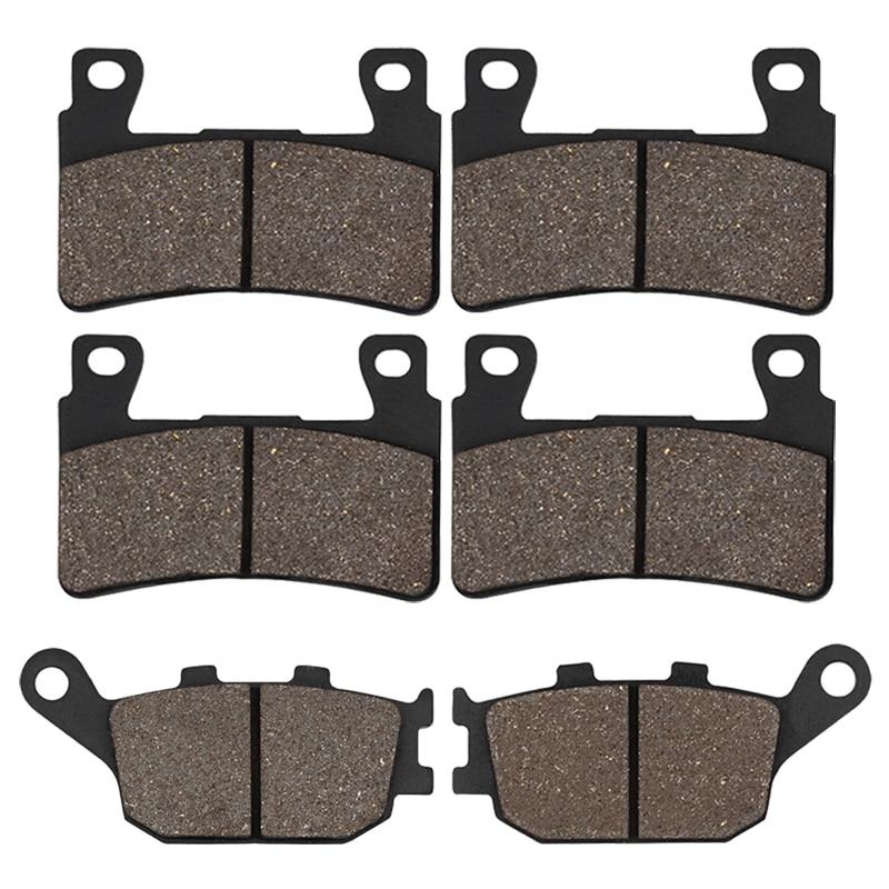 Motorcycle Front & Rear Brake Pads For HONDA CBR 600 F4 F4i CBR929 CBR954 FIREBLADE CBR900 RR VTR 1000 SP-1 (SP45) CB1300 motorcycle front and rear brake pads for honda cbr600 cbr900 vtr1000 cb1300s cbr929 cbr954 rvt1000 r rc51 black brake pads