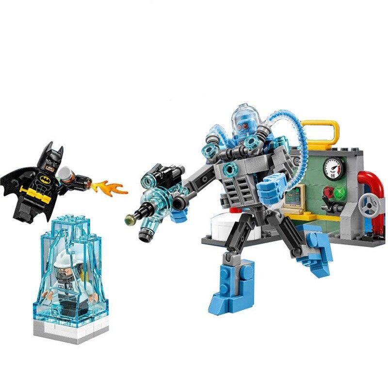 Lepines Batman Series Mr Freeze Ice Attack Byggstenar Brickor Modell Modell Barn Leksaker Brcik Figurgåva 70901