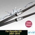 """Lâmina de limpador para Hyundai I30 (2007-2010) 24 """"+ 18"""" fit botão tipo de limpador braços só HY-011"""