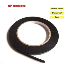 RP Reliable, 1mm thick, 30cm, (300mm*5M), Black Dust Proof Sponge Foam Tape Double Sided Adhesive for Phone Car Panel Display