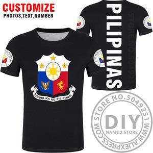 Image 3 - FILIPPINE maglietta fai da te numero nome personalizzato gratuito phl t shirt nazione bandiera ph repubblica pilipinas filippino stampa di testo foto abbigliamento