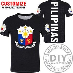 Image 3 - フィリピン tシャツ diy 無料カスタム名番号 phl tシャツ国民旗 ph 共和国 pilipinas フィリピンプリントテキスト写真服