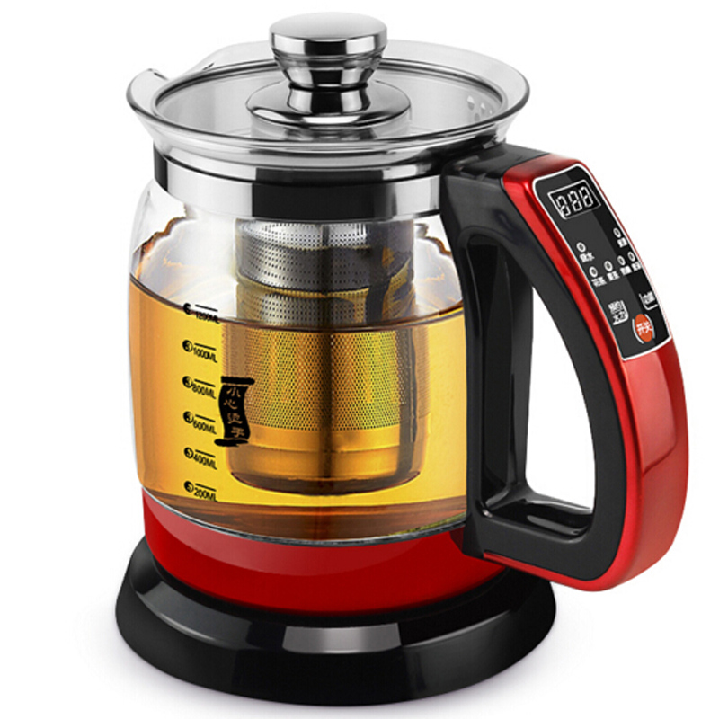 Bouilloire électrique santé conservation pot 1.2L 700 W théière multifonctionnelle théière théière bouillie split verre santé pot bouteille d'eau