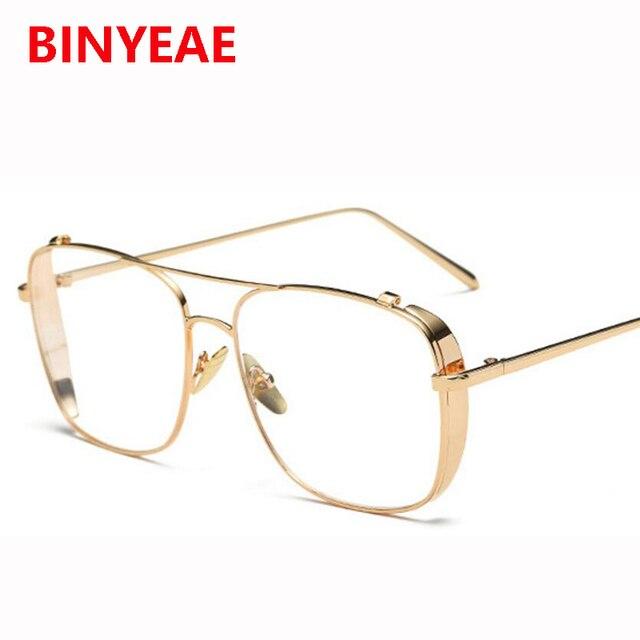 gold glasses frames for men brand optical glasses women frames clear ...