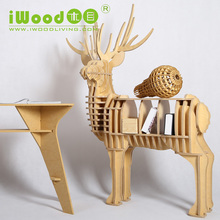 Nordic Continental furniture wood elk racks Creative home wooden ornaments Home Decoration simulation elk rack desk table