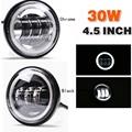 """Motorcycle 4 1/2"""" Harley led headlights replacement 4.5 inch 30w fog light with halo ring"""