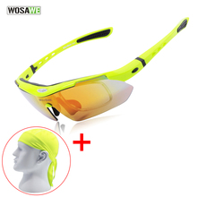 WOSAWE Polarized Cycling Sun Glasses Outdoor Sports Bicycle Glasses Bike