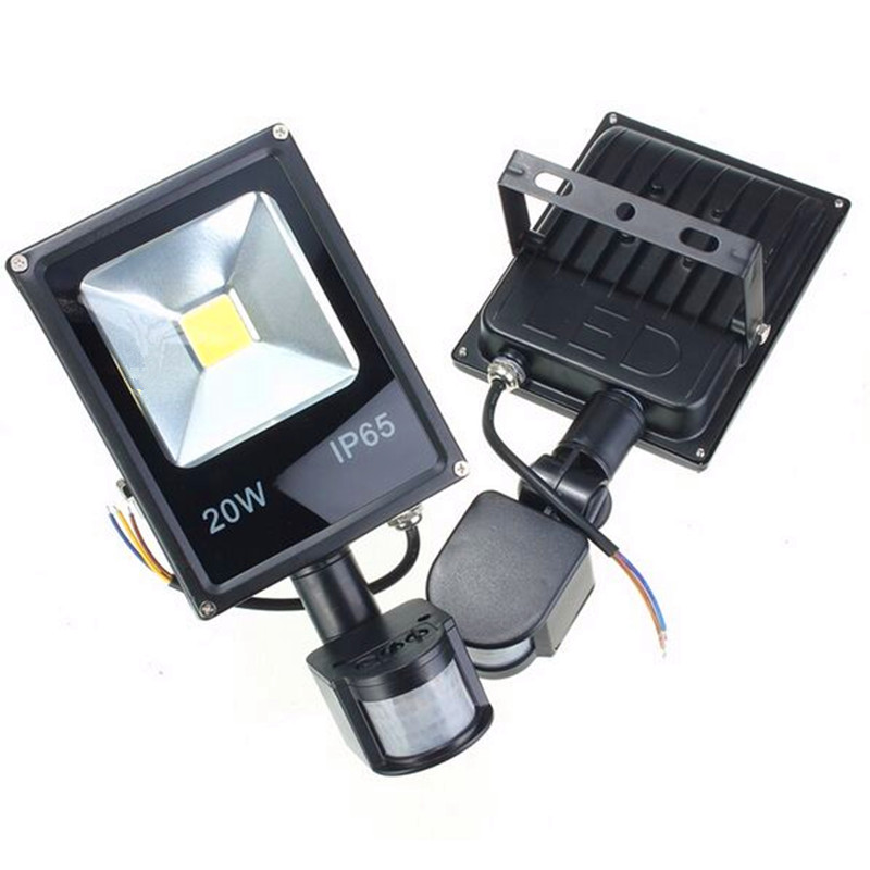 Led Lamps Led Outdoor Wall Lamps Nice Led Motion Sensor Spotlight 10w 20w 30w 50w Led Flood Lights Pir Floodlights Induction Sense Reflector Outdoor Wall Light Ip66 Save 50-70%