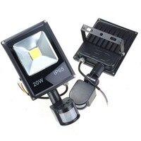Sensor de movimento led spotlight 10 w 20 30 50 led luzes de inundação pir projectores indução sentido refletor parede ao ar livre luz ip66