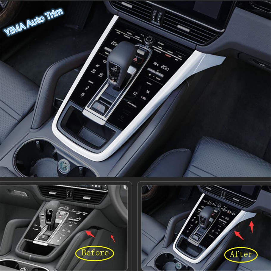 Lapetus Car Styling Middle Stalls Gear Shift Box Cover Trim For Porsche Cayenne 2018 2019 ABS
