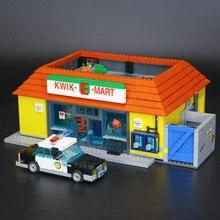 LEPIN 16004 16005 2232 Pcs os Simpsons KWIK-E-MART Ação Modelo de Construção Tijolos Bloco Compatível 71016 presente do Menino