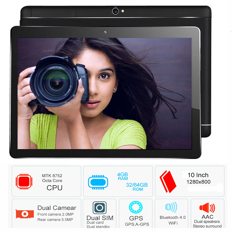 2018 10.1' Tablets Octa Core 32GB 64GB ROM Google Android 8.0 10 Tablet PC 3G 4G LTE FDD TDD WIFI GPS bluetooth phone Computer