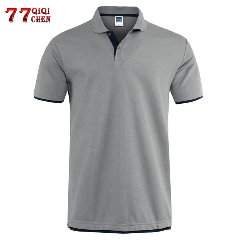 Clássico de manga curta t camisa masculina verão casual sólido camiseta respirável de algodão de luxo camiseta de tênis de golfe