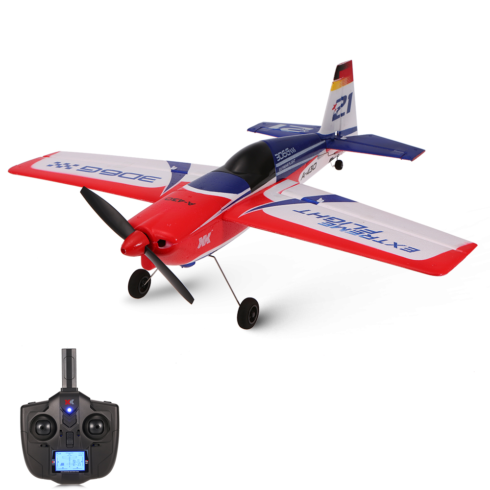 A430 2.4G 5CH Brushless Motor 3D6G System RC Airplane 430mm Wingspan EPS Aircraft Compatible Futaba S-FHSS RTF for XK Airplane цена